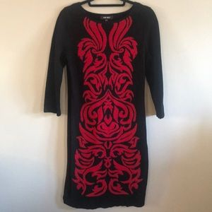 NINE WEST Ladies Sweater Dress Size Large.